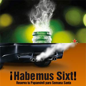 Heineken y Sixt, entre las primeras marcas en sacar tajada publicitaria del nuevo Papa