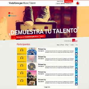 Vodafone yu: Music Talent, nuevo concurso de promesas musicales de Vodafone