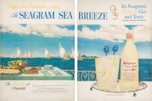 La historia de Seagram's Gin, en 60 años de carteles publicitarios