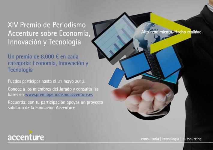 Apúntese al XIV Premio de periodismo Accenture hasta el 31 de mayo