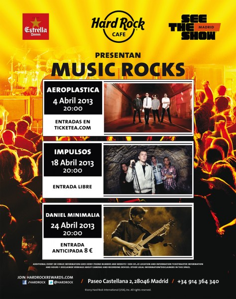 Estrella Damm y Hard Rock Cafe Madrid presentan Music Rocks