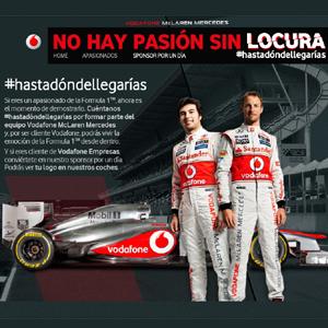 Vodafone le lleva al box de McLaren y pone su logo en sus monoplazas