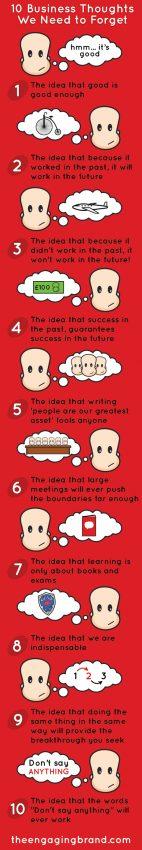 Si quiere prosperar en el mundo de los negocios, tire a la basura estas diez ideas