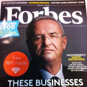 ¿Wifi gratis en una revista de papel? Sí, Microsoft lo hace posible en 'Forbes'