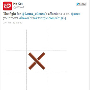 Un tres en raya en Twitter entre KitKat y Oreo