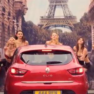 Pruebe el nuevo Renault Clio y aterrice por arte de magia en un París lleno de chicas y chicos sexys