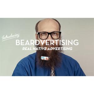 ¿Tiene barba? Alquílela por 5 dólares al día como soporte publicitario