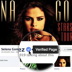 Facebook sigue los pasos de Twitter y lanza páginas verificadas para famosos