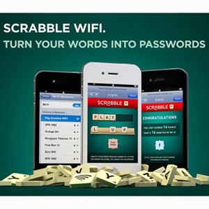 Scrabble y Ogilvy nos incentivan a escribir bien para conseguir wifi