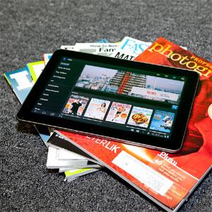 Las revistas para tabletas podrían adelantar a sus