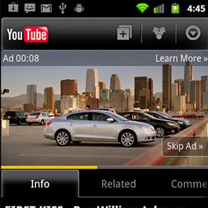 YouTube triplica la publicidad en los dispositivos móviles en los últimos seis meses