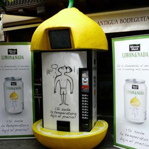 LIMÓN&NADA instala máquinas vending que reducen el precio cuando sube la temperatura