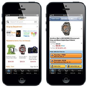 En el m-commerce, primero está Amazon y luego todos los demás