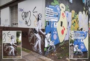 Una campaña se vale del arte callejero para recordar a la gente que las prostitutas también son madres