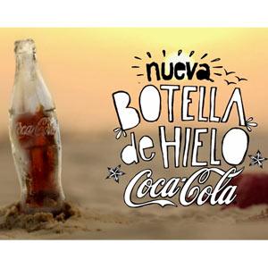 Coca-Cola cambia las botellas de cristal por las de hielo para hacer frente a la canícula veraniega