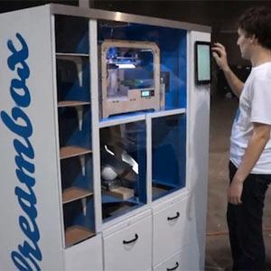 Dreambox, la máquina expendedora que pone la impresión en 3D al alcance de todos