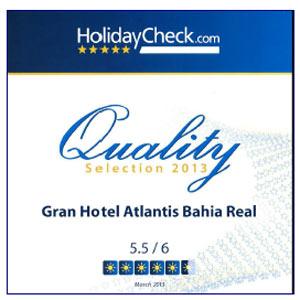 El Gran Hotel Atlantis Bahía Real obtiene el certificado