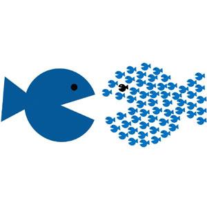 En cuestión de servicio al cliente, el pez chico se come al grande