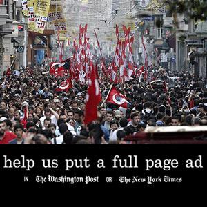 Campaña de crowdfounding para dar voz a la oposición turca en un anuncio en 'The New York Times'