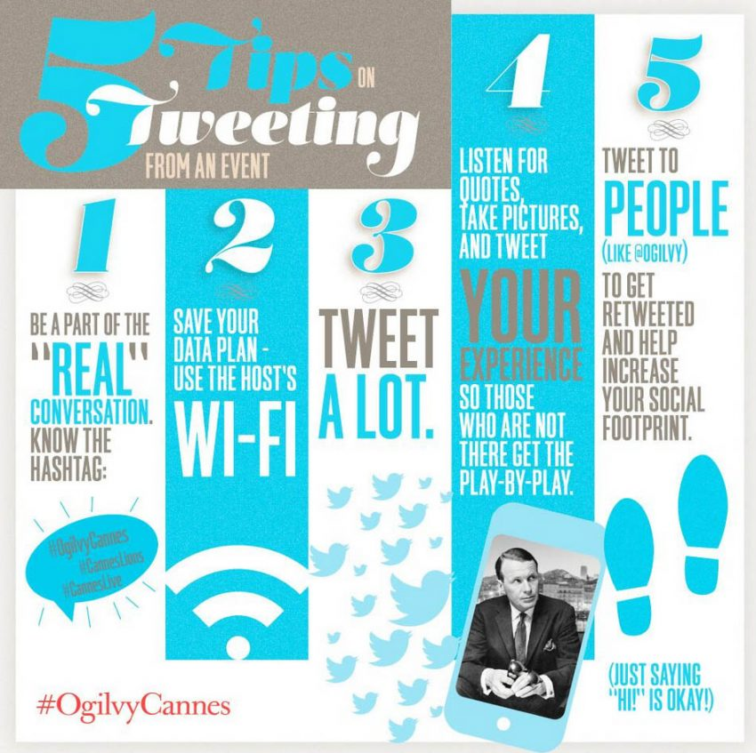 No se pierda los cinco consejos para tuitear en directo el Festival de #CannesLions