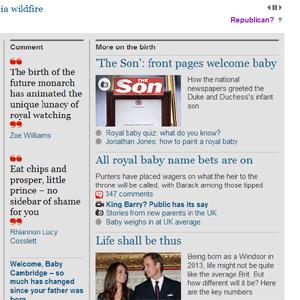 The Guardian crea una versión online para republicanos ante el nacimiento en la Familia Real británica