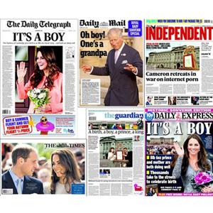 La prensa británica experimentó uno de sus mejores días con el nacimiento del bebé real