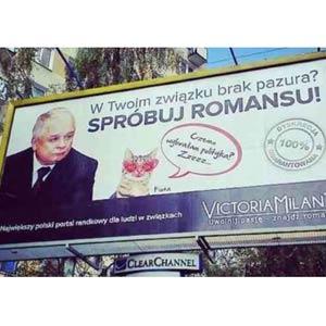 Una web de contactos usa en un anuncio la imagen del expresidente polaco fallecido en un avión