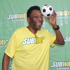 Pelé, nuevo embajador mundial de los restaurantes Subway
