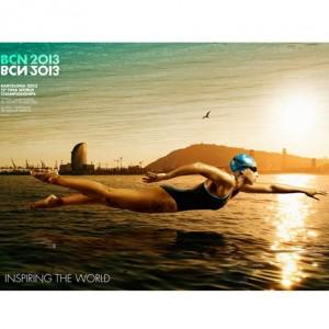 La campaña gráfica del campeonato mundial de natación destaca la perfecta estética de este deporte