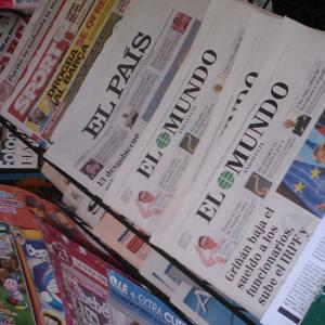 Las ventas de los 8 periódicos generalistas con mayor tirada caen un 12% con respecto al año anterior