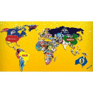 Le invitamos a viajar por el mundo a través de las diferentes marcas de cerveza y sus logos