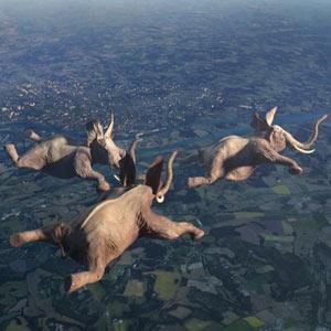 Una jirafa funambulista o elefantes paracaidistas son algunos de los protagonistas de una divertida campaña de France3