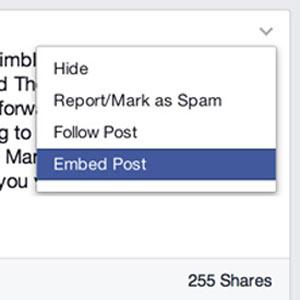 Facebook amplía su poderío e introduce la opción de publicaciones embedded