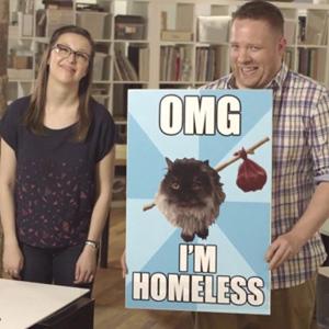 El marketing llega a los carteles de los mendigos, la clave para conseguir llenar el vaso