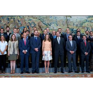 La Princesa de Asturias reciben en audiencia a los ganadores de la última edición del festival