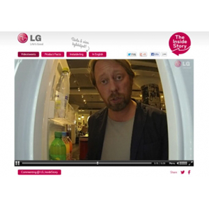 LG Suecia presenta el primer frigorífico que tuitea