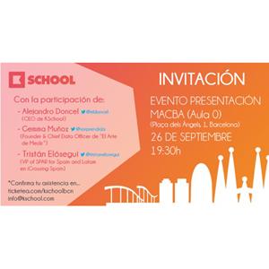 El MACBA acogerá la presentación de KSchool Barcelona