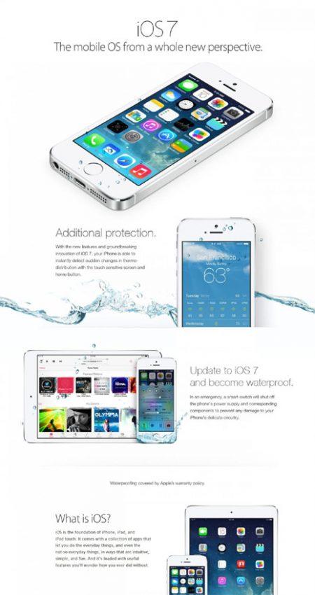 Un anuncio falso de iOS7 toma el pelo a los propietarios de iPhone y les anima a