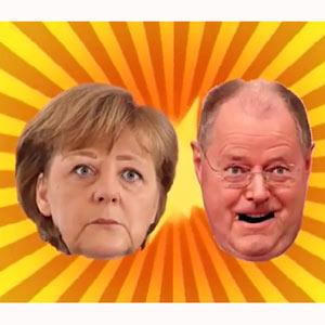 Merkel y Steinbrück