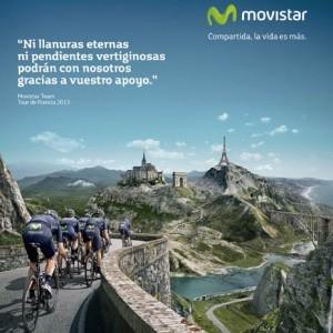 VCCP realiza la campaña de publicidad del equipo ciclista Movistar Team