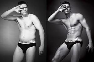 Hombres reales se convierten en modelos de publicidad de ropa interior gracias a The Sun