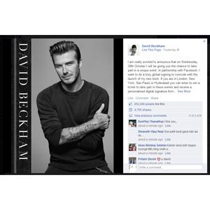David Beckham estrenará la firma de libros digital vía Facebook