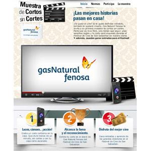 Arena colabora en la muestra de cortos sin cortes de gas for Gas natural servicios
