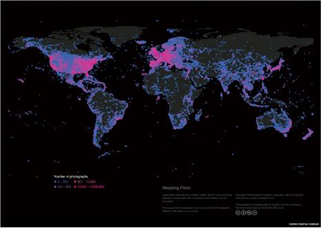 mapa Flickr pequeño
