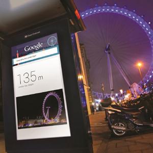 Google lleva su tecnología 'Google Now' a las calles de Londres de la mano de 'Google Outside'