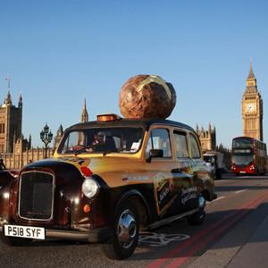 Un taxi con aroma a patata, la última idea marketera de McCain