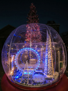 Londres presume del globo de nieve más grande del mundo hecho en LEGO