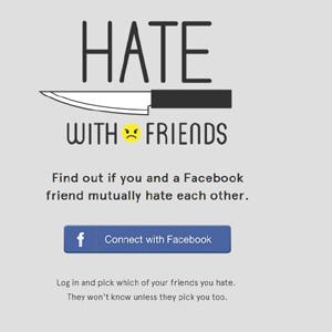 Facebook dará la opción de odiar a tus amigos con una novedosa aplicación