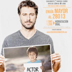 Hugo Silva o Ariadne Artiles colaboran con la ONG World Vision en su nueva campaña