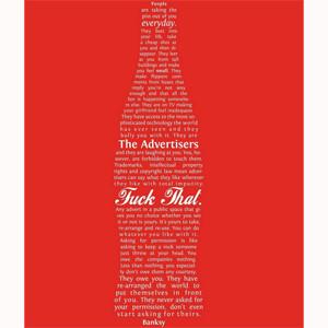 La crítica abierta de Bansky al mundo publicitario viene en forma de botella de Coca-Cola